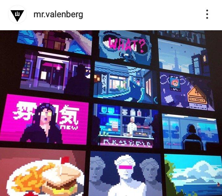 alien pixelart mr valenberg