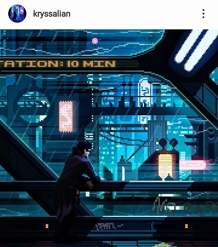 sci-fi easy pixel art kryssalian